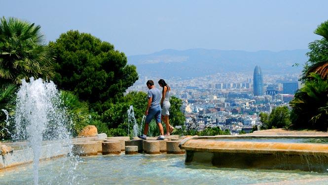Mirador de l'Alcalde. Parc de Montjuïc