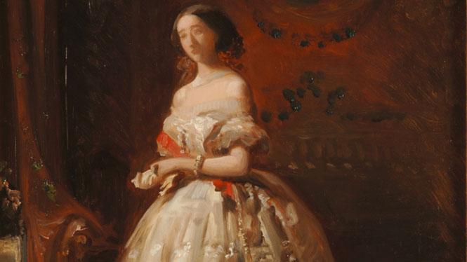 José de Madrazo. 'Retrato de la Duquesa de Alba (boceto)(1855)