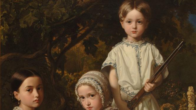 Federico de Madrazo Kuntz. 'Luisa, Rosa y Raimundo de Madrazo Garreta, hijos del pintor' (1845)
