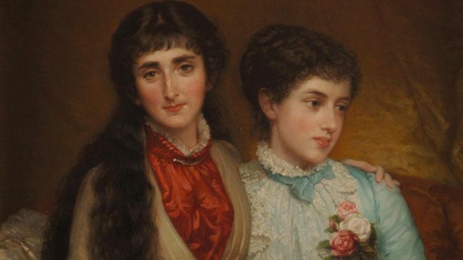 Luis de Madrazo Kuntz, 'Mª Luisa Fortuny de Madrazo y Mª Teresa de Madrazo y Madrazo' (1883-1884)
