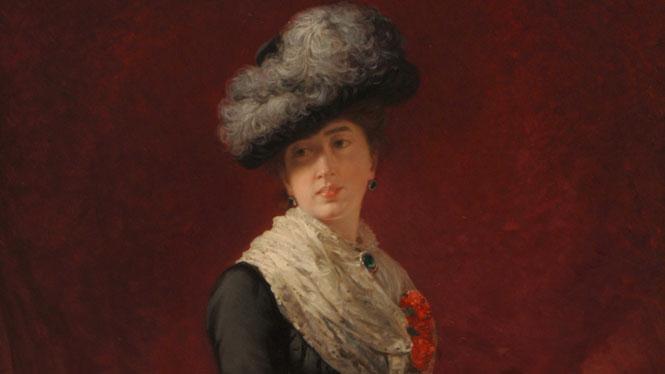 Luis de Madrazo Kuntz, 'Cecilia de Madrazo Garreta, viuda de Fortuny' (1880)